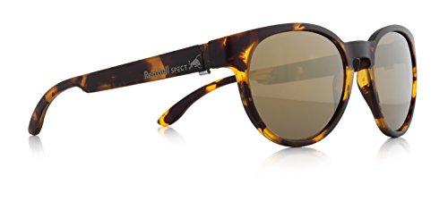 REDBULL SPECT WING4 006 50,gafa sol hombre,montura color marrón havanna con lentes de espejo dorado