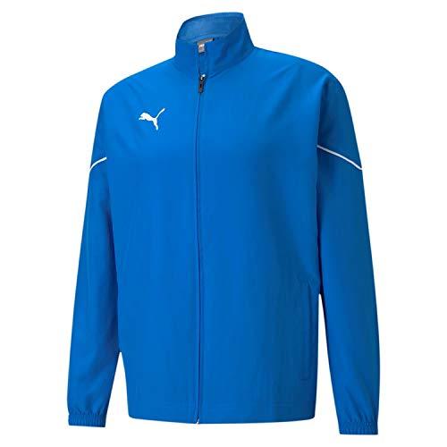 PUMA Teamrise Sideline Jacket Chaqueta De Entrenamiento, Hombre, Electric Blue Lemonade-Puma Black, S