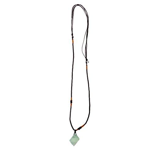 Sharplace Collar con Colgante de Cristal de Fluorita Natural, Accesorios de Coche, Coleccionables