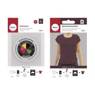 Rayher Fixator + textielverf voor wasmachine - bruin