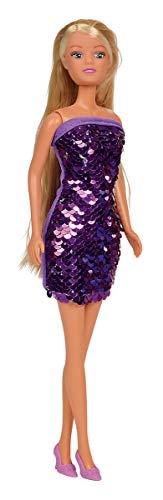 Simba 105733366 - Steffi Love Puppe im coolen Paillettenkleid, mit Swap Effekt, Wendepailletten, es wird nur ein Artikel geliefert, 29cm, ab 3 Jahren