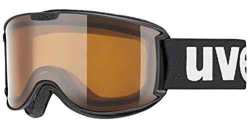 uvex Unisex– Erwachsene, skyper P Skibrille, black met mat, one size