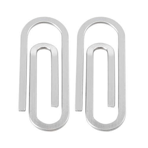 LIOOBO Fermacarte 2pc in acciaio inossidabile per uomo smart mens fermasoldi in acciaio inossidabile