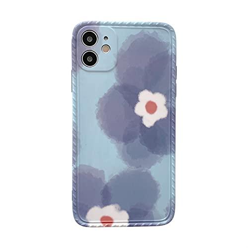 Funda De Teléfono Retro para iPhone Carcasa Bonita con Pintura Al Óleo De Flores Y Tinta para iPhone 12 11 Pro MAX XR XS 7 8 Plus 12 Mini 7Plus (Color : B, Size : For iPhone 11 Pro)