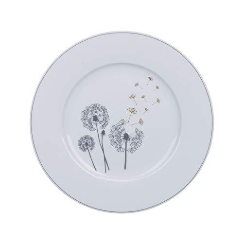 Krasilnikoff - Teller, Kuchenteller, Dessertteller - Pusteblume - Porzellan - Ø20 cm