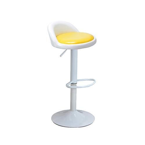 XXHJWXCM E-Sports Gaming Chairs Silla De Bar Taburetes De Bar Estilo Moderno Se Puede Ajustar Altitud Sala De Estar Silla Cocina Restaurante Taburete De Bar Ergonómica (Color : Yellow)