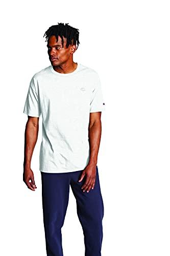 Champion Men's Classic Jersey tee Camiseta, Gris Plateado, L para Hombre