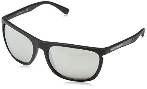 Emporio Armani EA4107-50426G-59 Rechteckig Sonnenbrille 59, Grau