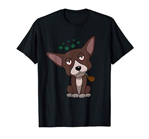 喫煙ボング 喫煙リラクゼーション大麻大麻動物 Tシャツ