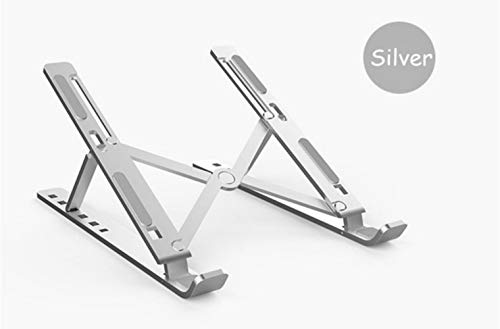 Portable Notebook Computer Stand Portable 6 Height Adjustable Aluminum Alloy Desktop Ventilation Cooling Rack, Suitable for MacBook, Up to 15.6 Inches