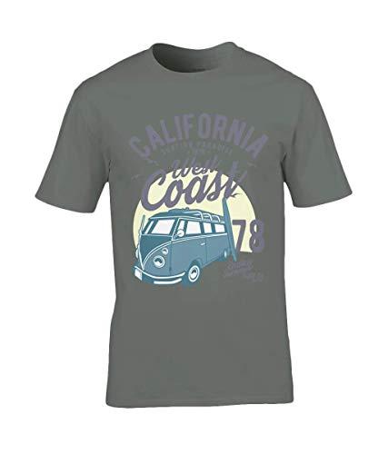 California West Coast v2 – Gildan Premium Cotton T-Shirt Military Green...