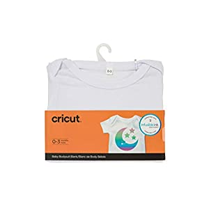 Cricut White Baby Bodysuit, 0 – 3 Months, Blanks Infusible Ink, 0-3