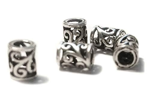 Windalf Kleine Keltische Bart & Haar Perle Roya 6 mm Lucky Boho Spiralkraft 925 Sterlingsilber