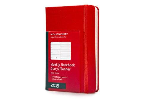 Moleskine Red Pocket Weekly Notebook Diary / Planner 2015