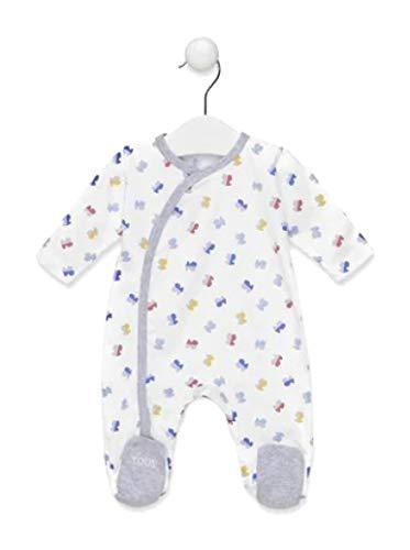 Tous Baby Pelele M/L HBEAR-1405 Blanco Talla 1/3 Meses