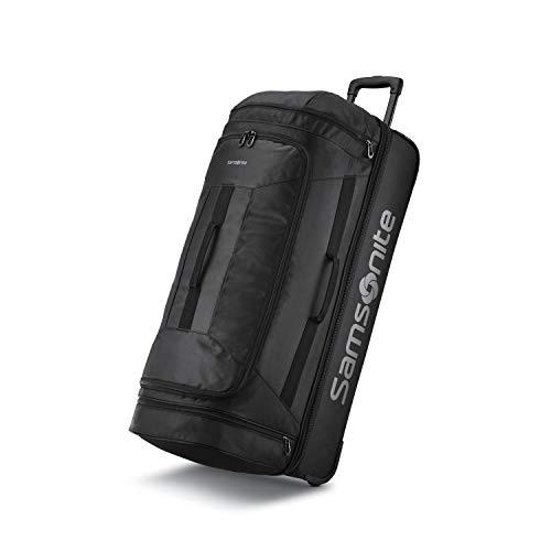 Samsonite Andante 2 Wheeled Rolling Duffel Bag, All Black, 32-Inch