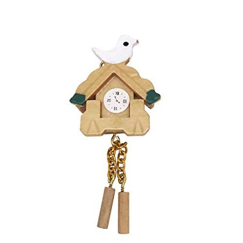 Accesorio para la casa de muñecas, 1/12 mini pájaro reloj de pared modelo de juguete muñeca casa salón dormitorio accesorio