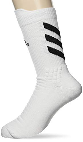 adidas Ask Crew MC Socks, White/Black/Black, S