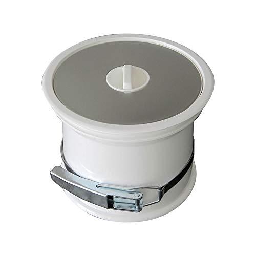 Poubelle de plan de travail - couvercle inox - Décor : Inox/Blanc - ITAR