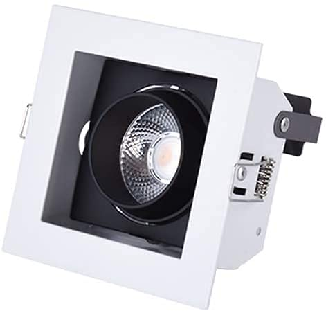 Luz De Techo Empotrada LED Estrecha 12W Luz Empotrada LED Iluminación COB Ajustable Luz De Panel De Techo Empotrada 2.4 GHz Iluminación De Control Remoto Negocio En El Hogar Foco De Interior