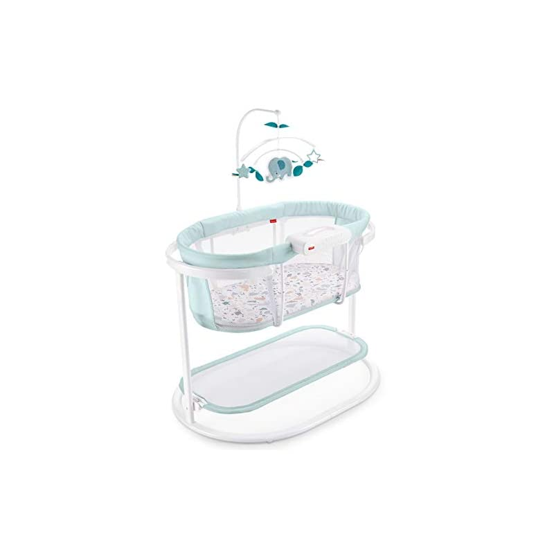 crib bedding and baby bedding fisher-price soothing motions bassinet, pacific pebble, baby bassinet with soothing lights, music, vibrations, & motion, multi