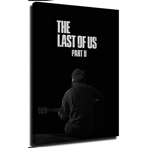 Ghychk The Last of Us Part II - Lienzo decorativo abstracto para pared (50,8 x 76,2 cm)