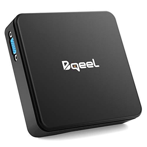 Bqeel Mini PC 【4GB+64GB】 Procesador Intel® Cherry Trail Z8350 soporta Windows 10 Home Dual WiFi 5G/2.4G,Gráfico Intel HD 4K,BT 4.0,Gigabit Ethernet,Salida/USB/SD/VGA Ordenador de Sobremesa