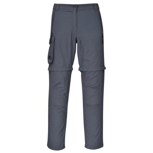 Cox Swain Trekking Hose Range Women Quick Dry - Anti Moskito - UV Schutz, Colour: Grey, Size: XL