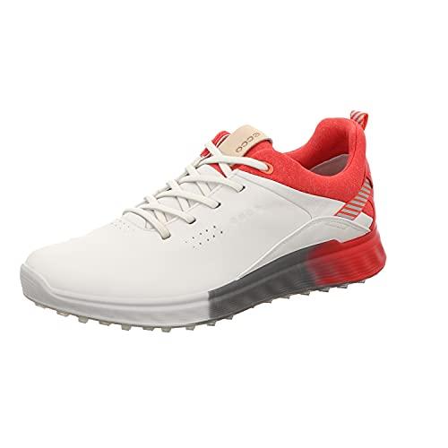 ECCO S-Three, Zapatos de Golf Mujer, White Hibiscus, 38 EU