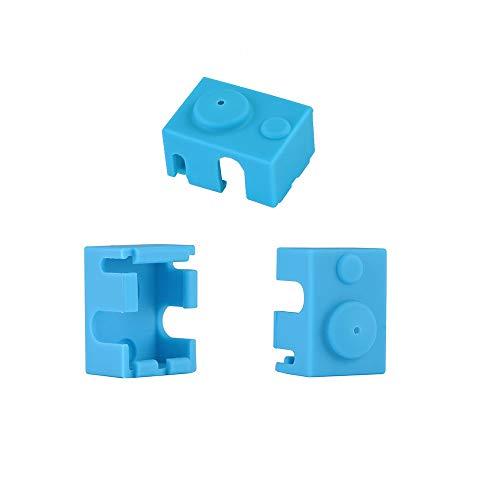 Impresora 3D Bloque calentador Calcetines de silicona Cubierta para E3D V6 PT100 Extrusora Hotend Color azul Eewolf