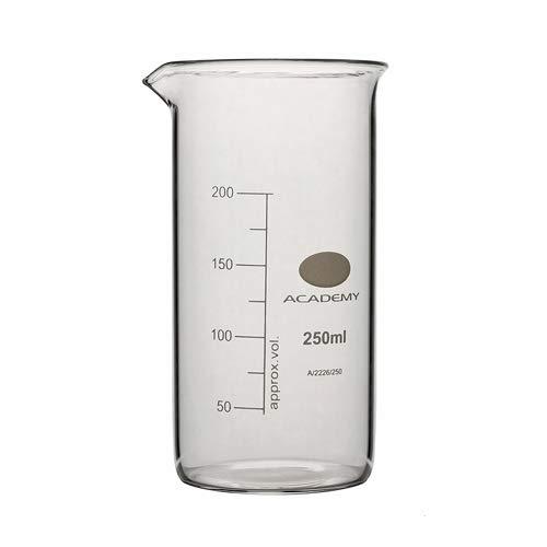 Academy A/2226/1000 Borosilicaatglas beker met tuit, hoge vorm, 1000mL, pak van 6