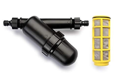 REHAU Wasserfilter mit Sieb, verhindert Verunreinigungen, verlängert Lebensdauer von Perlschlauch/Tropfschlauch/Regner