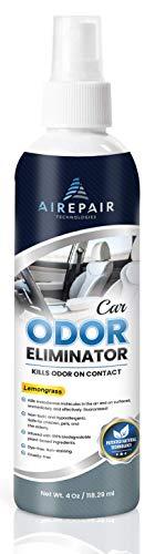 Car Odor Eliminator Spray-Professional Deodorizer, Air Freshener and Purifier-for Smoke, Cigarettes, Cigar, Grease Smells-Plant Based, Natural, Neutralizer Absorber (Lemongrass, 1-Pack)