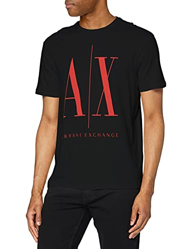 ARMANI EXCHANGE T-Shirt, Black Red, XL Uomo