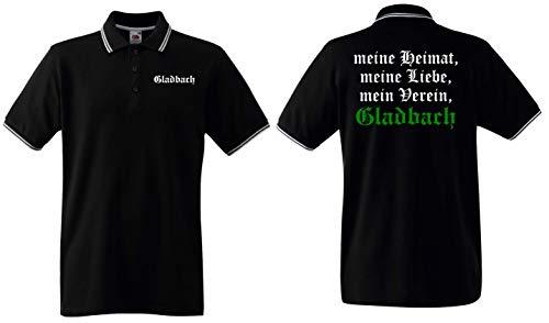Gladbach Herren Polo Shirt Ultras Meine Heimat, Liebe, Mein Verein