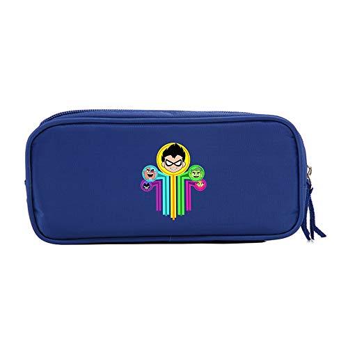 Teen Titans Go Ocio Agradable, Sencilla Bolsa de Almacenamiento Diseño Lápiz Casos patrón de la Letra lápiz Bolsa for niños y niñas Niños (Color : A09, Size : 21 X 10 X 5.5cm)