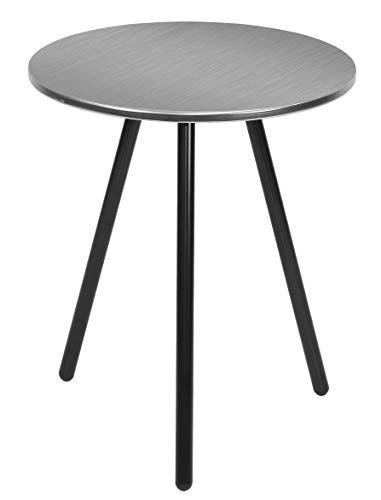 Present Time - Table d'appoint métal brossé Disc Ø42 cm