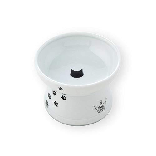 【AmazonCM登場商品】猫壱(necoichi) ハッピーダイニング 脚付フードボウル シリコン付き 猫柄 レギュラー