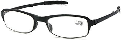 DDSGG Gafas de Lectura Plegable Mini vidrios de Lectura, Lentes de Resina compacta de Bolsillo Gafas HD, Ultra-Ligero y más Flexible, Comodidad lectores Gafas for Hombres y Mujeres Vasos