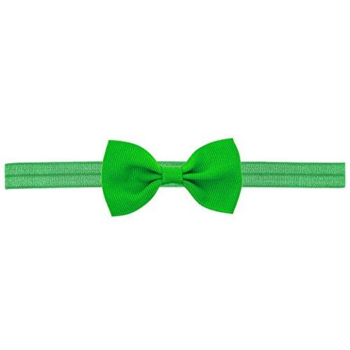 Longra mini-haarband voor baby en meisjes, met strik, elastische haarband voor baby en meisjes, accessoires, elastisch, met bloemendecoratie Verta