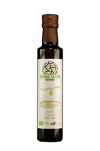 Olio di semi di lino bio SPREMUTO SU RICHIESTA - 250 ml - Freschissimo - Omega3