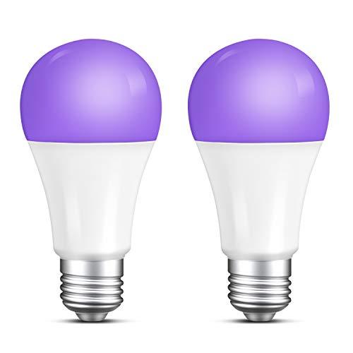 Beedove UV-Leuchtmittel, 7 W, UVA-Stufe 365–395 nm, E27-Sockel, UV-Leuchtstofflampe, leuchtet im Dunkeln, Schwarzlicht, Violett, Neon