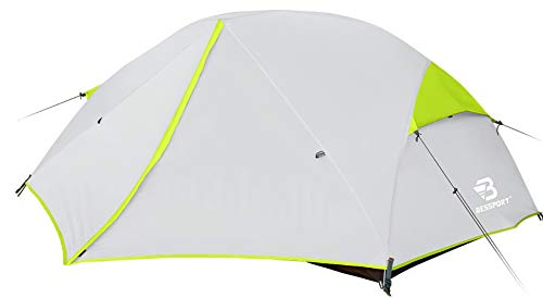 Bessport 2-3 Person Backpacking Tent Lightweight, Easy Setup 3 Season Camping Tent -Two Doors, Waterproof, Anti-UV Large Tent for Family, Outdoor, Hiking (2 Person-Green)