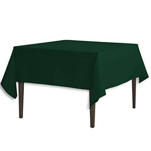 LinenTablecloth 177,8 cm Cuadrados poliéster Mantel Verde Oscuro
