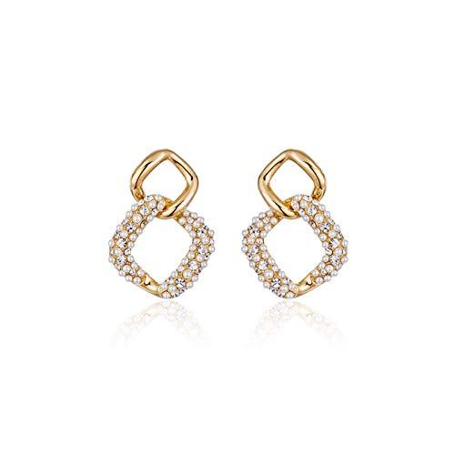 Yuansr Pendientes de Perlas de Plata para Mujeres, Plata de Ley 925, emparejadas con Perlas de Agua Dulce, hipoalergénico, proporcionando Regalos para Mujeres