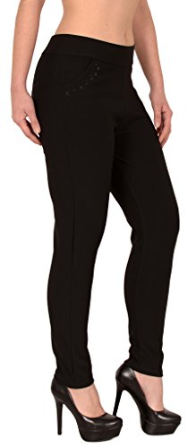 ESRA Damen Treggings Hose High Waisted Stretch Leggings Hose bis Übergröße 4XL/5XL #H275