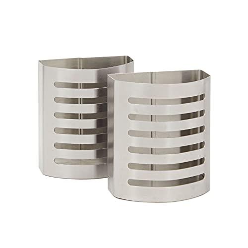Magnetic Pencil Holder for Refrigerator, Locker, Office (Stainless Steel, 2 Pack)