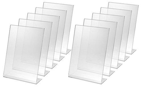 SIGEL TA210 Tischaufsteller schräg, für A4, 10 Stück, glasklar Acryl - weitere Größen