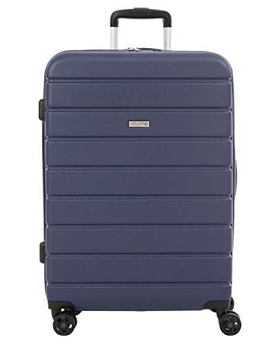 imome Top Maleta Mediana Azul Marino Cierre TSA 67x47x27/30 cm Expandible | Trolley de Viaje con Carga USB | Maleta de Viaje Rígida 100% ABS Reforzado, Antiarañazos