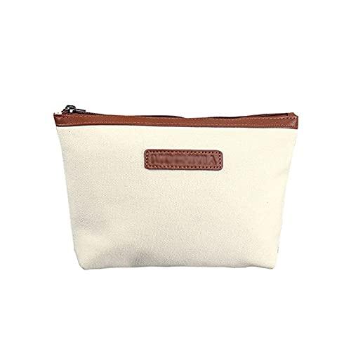 HJF Canvas Cosmetic Bag Female Portátil Viaje Bolsa De Almacenamiento De Gran Capacidad Cosmetic Bolsa De Almacenamiento C